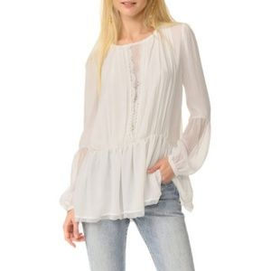 Free People Soul Serene Mesh Lace Blouse Top XS
